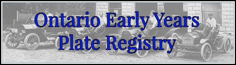 Ontario Early Years License Plate Registry